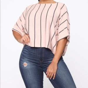 Fashion nova striped top